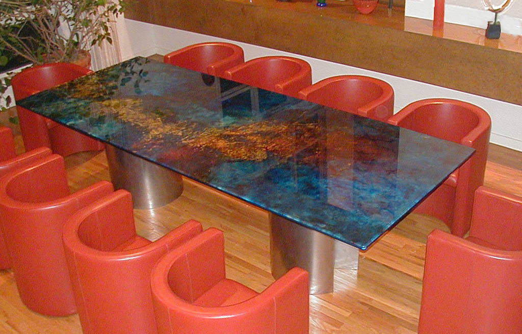 Glass tabletops for Interesting table tops